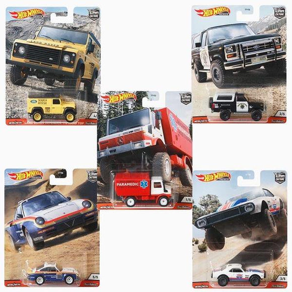 HOT WHEELS DIECAST - Real Riders Car Culture - Wild Terrain Set Of 5