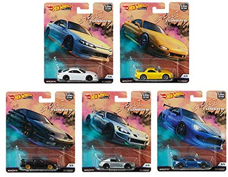 HOT WHEELS DIECAST - Real Riders Car Culture - Street Tuners Set Of 5