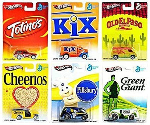HOT WHEELS DIECAST - Real Riders Pop Culture - General Mills set of 6