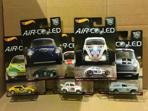 HOT WHEELS DIECAST - Real Riders Car Culture - Air Cooled Set Of 5