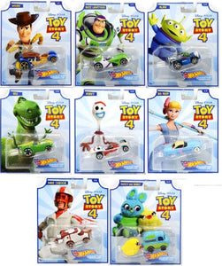 HOT WHEELS DIECAST - Toy Story 4 Character Cars set of 8
