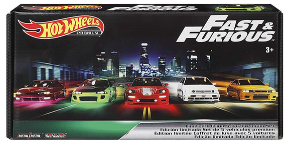 HOT WHEELS DIECAST - Real Riders Fast and Furious Box Set Of 5