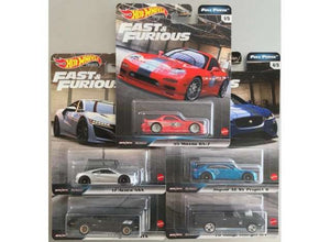 HOT WHEELS DIECAST - Real Riders Fast and Furious Full Force Set H of 5