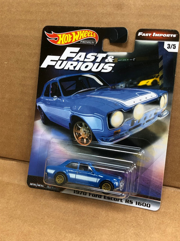 HOT WHEELS DIECAST - Fast and Furious 1970 Ford Escort RS 1600