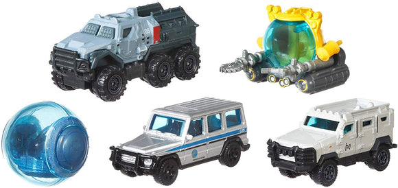MATCHBOX DIECAST - Jurassic World Island Transport team pack of 5