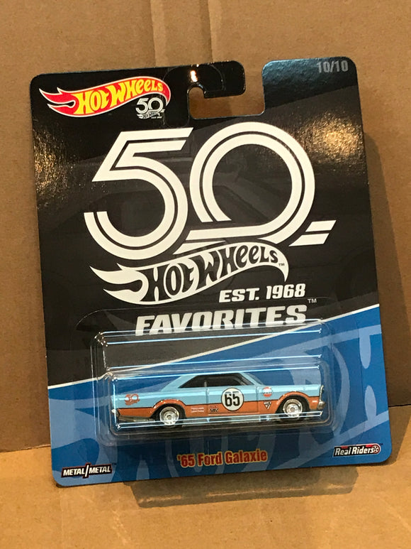 HOT WHEELS DIECAST - Real Riders 50th Anniversary Favorites - '65 Ford Galaxie