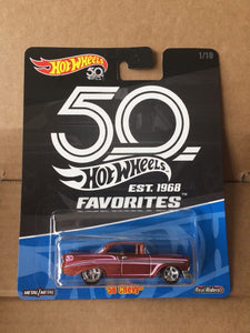 HOT WHEELS DIECAST - Real Riders 50th Anniversary Favorites - '56 Chevy