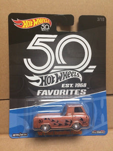 HOT WHEELS DIECAST - Real Riders 50th Anniversary Favorites - '60s Ford Econoline Pickup