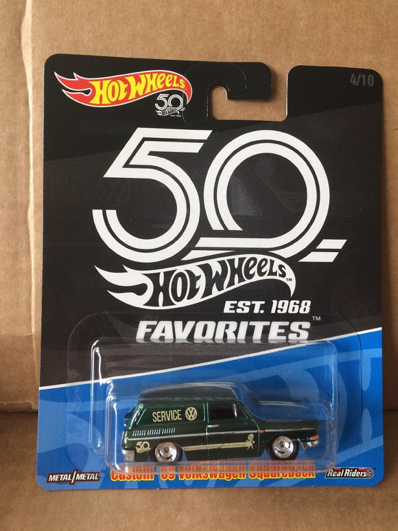 HOT WHEELS DIECAST - Real Riders 50th Anniversary Favorites - Custom '69 Volkswagen Squareback