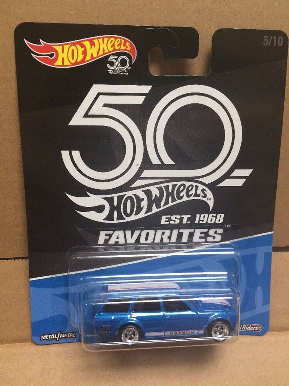 HOT WHEELS DIECAST - Real Riders 50th Anniversary Favorites - '71 Datsun Bluebird 510 Wagon