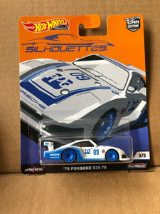 HOT WHEELS DIECAST - Real Riders Silhouettes - 78 Porsche 935-78