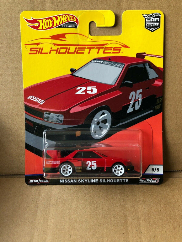 HOT WHEELS DIECAST - Real Riders Silhouettes - Nissan Skyline Silhouette