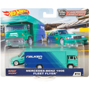 HOT WHEELS DIECAST - Team Transport Mercedes-Benz 190E Fleet Flyer