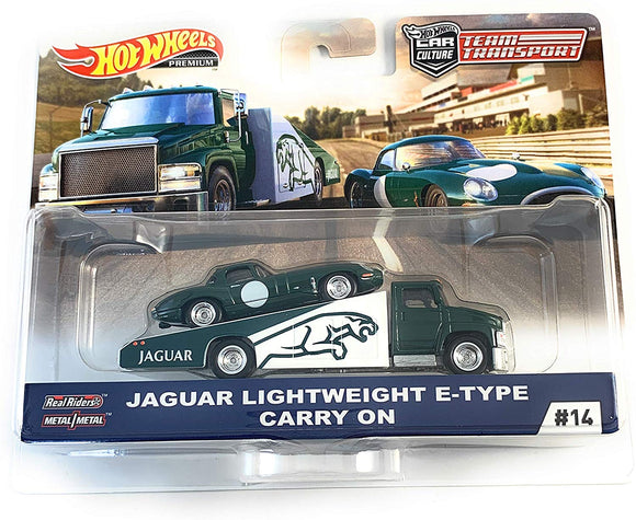 HOT WHEELS DIECAST - Team Transport Jaguar Lightweight E-Type Carry On