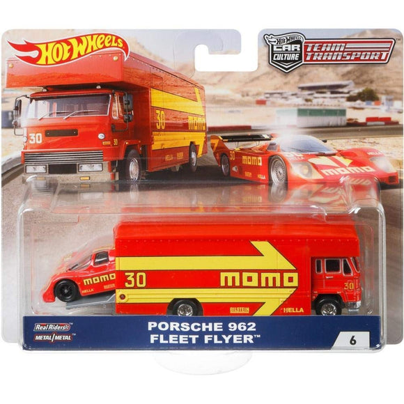 HOT WHEELS DIECAST - Team Transport Porsche 962 Fleet Flyer