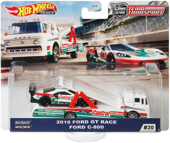 HOT WHEELS DIECAST - Team Transport Ford GT Race Ford C-800