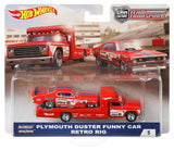 HOT WHEELS DIECAST - Team Transport Plymouth Duster Funny Car Retro Rig
