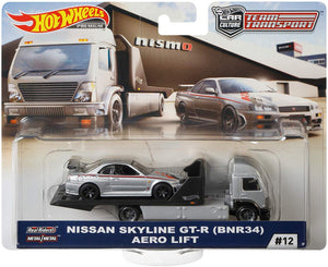 HOT WHEELS DIECAST - Team Transport Nissan Skyline GT-R Aero Lift