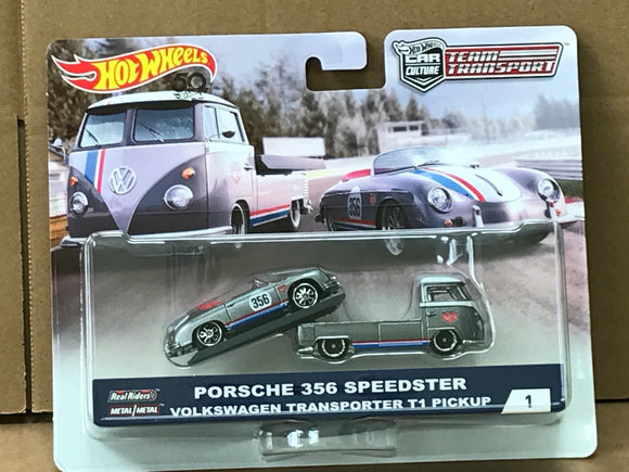 HOT WHEELS DIECAST - Team Transport Porsche 365 Speedster VW Transporter