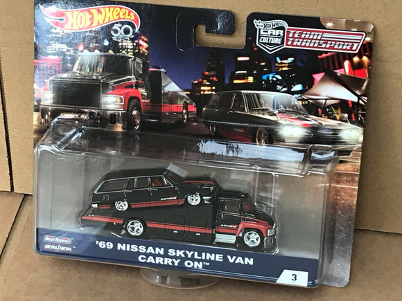 HOT WHEELS DIECAST - Team Transport 69 Nissan Skyline Van Carry On