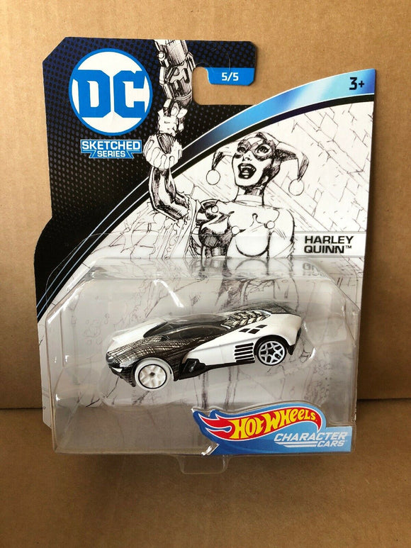 HOT WHEELS - DC Comics Sketched Series Harley Quinn