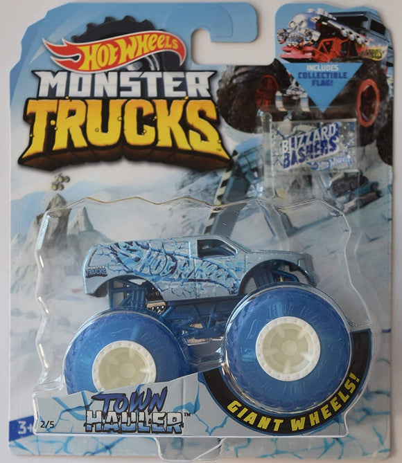 HOT WHEELS MONSTER TRUCKS - Blizzard Bashers Town Hauler
