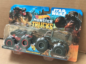 HOT WHEELS MONSTER TRUCKS - Darth Vader v Chewbacca