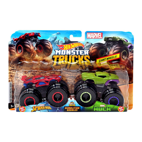 HOT WHEELS MONSTER TRUCKS - Marvel Spiderman v Hulk