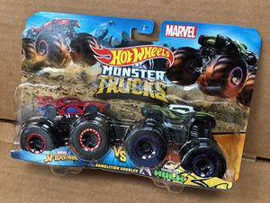 HOT WHEELS MONSTER TRUCKS - Marvel Spiderman v Venomized Hulk