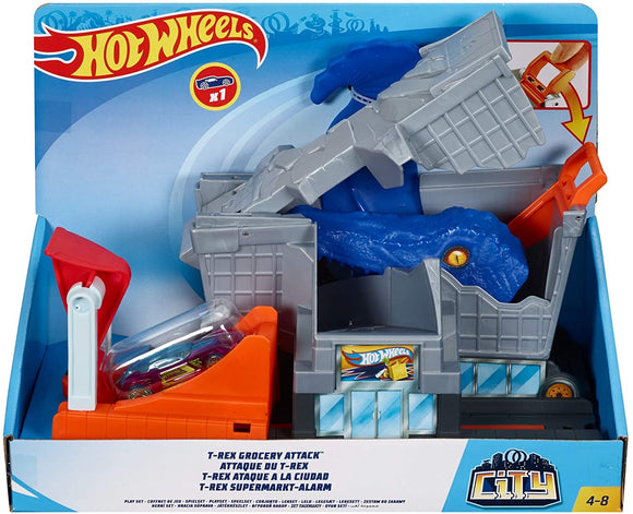HOT WHEELS - T-Rex Grocery Attack Playset