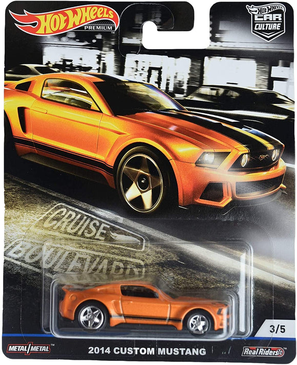 HOT WHEELS DIECAST - Cruise Boulevard - 2014 Custom Mustang