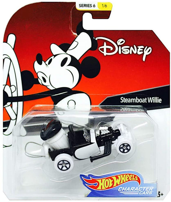 HOT WHEELS DIECAST - Character Cars Disney Steamboat Willie