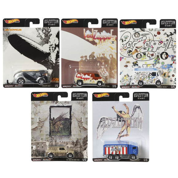 HOT WHEELS DIECAST Pop Culture Series - Led Zeppelin set Of 5