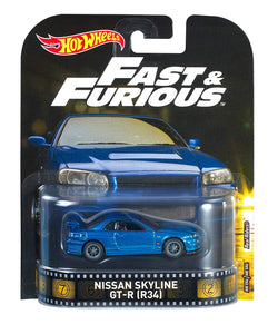 HOT WHEELS - Fast and Furious Nissan Skyline GT-R R34