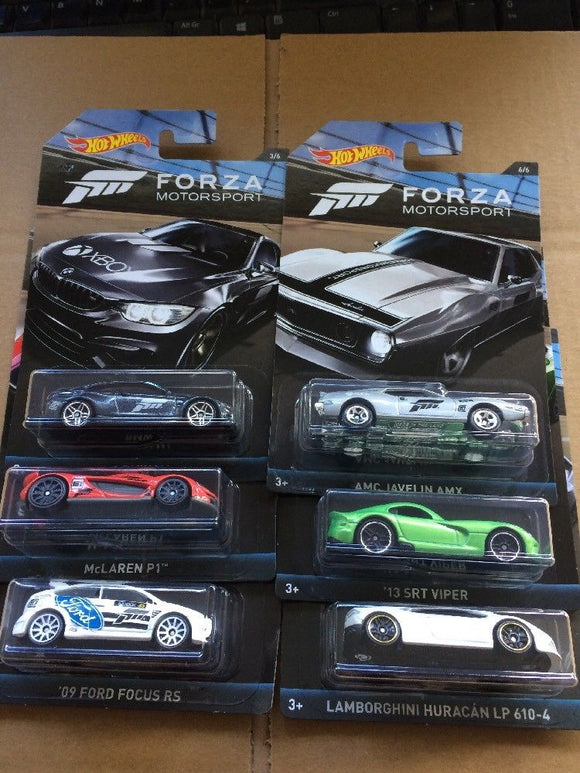 HOT WHEELS DIECAST - Forza Series Set Of 6