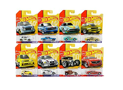 HOT WHEELS DIECAST - Retro Throwback Series Set Of 8