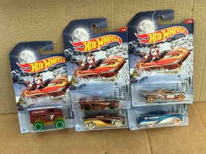 HOT WHEELS DIECAST - Holiday Hot Rods set of 5