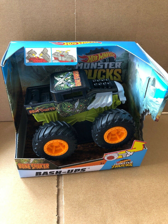 HOT WHEELS MONSTER TRUCKS Bash Ups - Bone Shaker