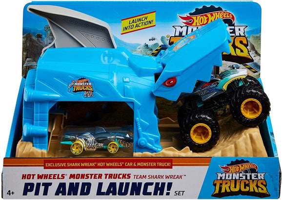 HOT WHEELS MONSTER TRUCKS - Pit and Launch Shark Wreak