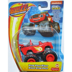 Blaze and the Monster Machines Diecast - Drag Race Blaze