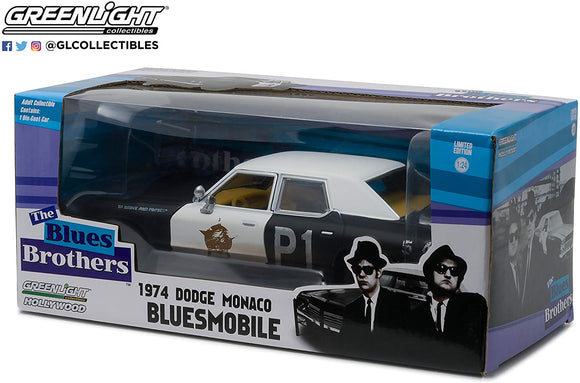 Greenlight Hollywood Diecast - The Blues Brothers 1974 Dodge Monaco
