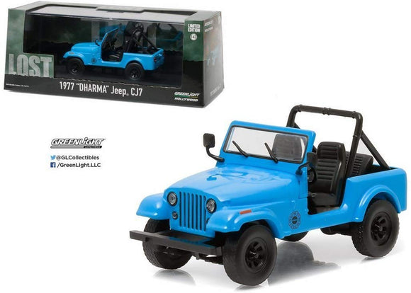 GREENLIGHT HOLLYWOOD DIECAST 1:43 Scale - Lost 1977 DHARMA Jeep CJ7