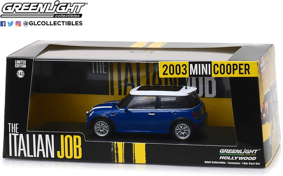 Greenlight Hollywood Diecast - Italian Job 2003 Mini Cooper S Blue