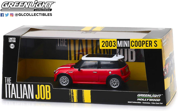 Greenlight Hollywood Diecast - Italian Job 2003 Mini Cooper S Red