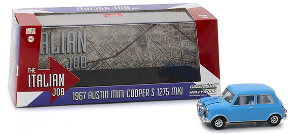 Greenlight Hollywood Diecast - Italian Job 1967 Austin Mini Cooper S 1275 MK1 Blue