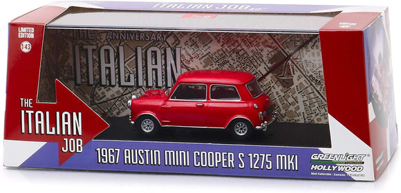 Greenlight Hollywood Diecast - Italian Job 1967 Austin Mini Cooper S 1275 MK1 Red
