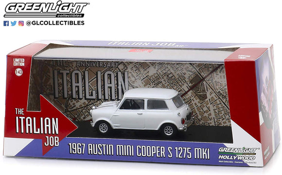 Greenlight Hollywood Diecast - Italian Job 1967 Austin Mini Cooper S 1275 MK1 White