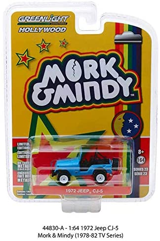 GREENLIGHT HOLLYWOOD DIECAST - Morky and Mindy 1972 Jeep CJ-5