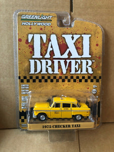 GREENLIGHT HOLLYWOOD DIECAST - Taxi Driver 1975 Checker Taxi