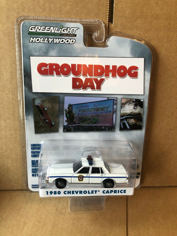 GREENLIGHT HOLLYWOOD DIECAST - Groundhog Day - 1980 Chevrolet Caprice